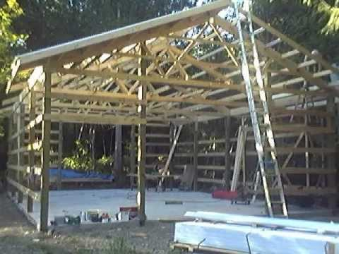 Roofing The Pole Barn Youtube