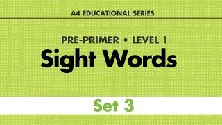 Sight Words - Pre-Primer Set 3