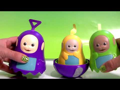 Teletubbies Stacking Cups Bubble Guppies Surprise Play-Doh Kinder Shopkins Huevos Sorpresa DC toys