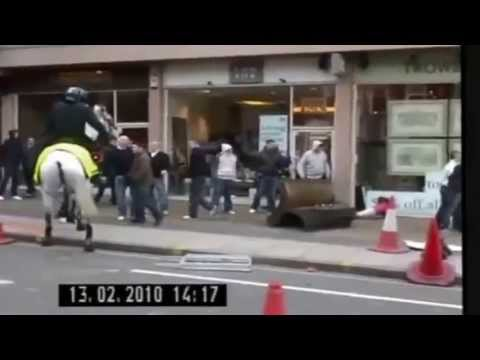 Cardiff vs Chelsea Hooligans fight 2010