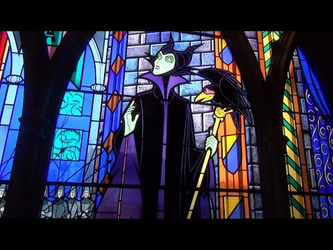 Sleeping Beauty Castle Walk-Through w/Stained Glass, Tapestries Incl. Maleficent at Disneyland Paris
