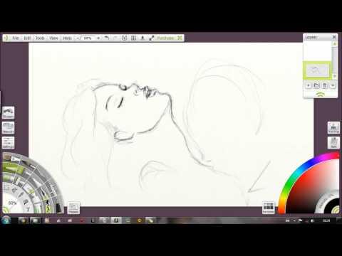 Speed art - szkic inspirowany muzyką Beyonce