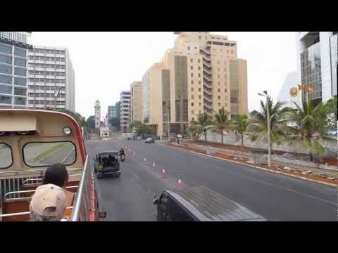 Driving through the Fort financial district in Colombo, Sri Lanka