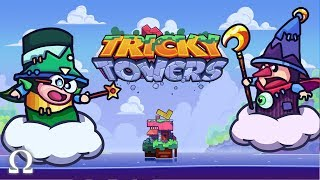 WIZARDS OF THE BLOCKS! (TWISTED TETRIS) | Tricky Towers Funny Moments Ft. Cartoonz, Squirrel