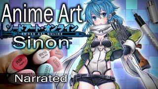 ~ Anime Art ~ Sinon SAO DRAWING (Narrated)