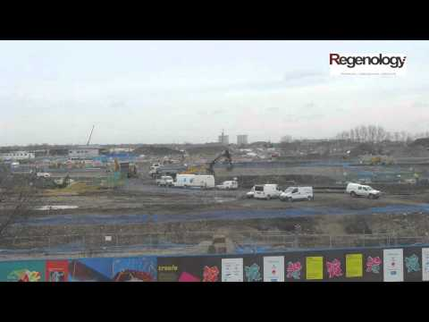 Time-lapse movie of construction of London 2012 Olympics Media Centre