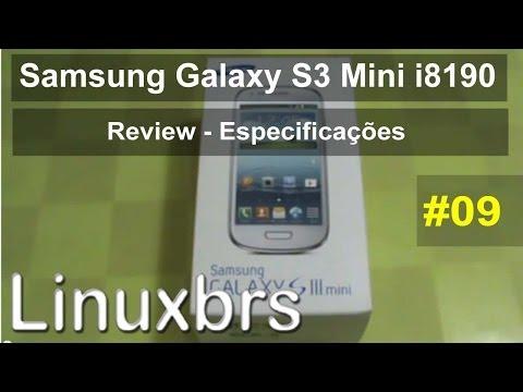 Samsung Galaxy S3 Mini i8190 - Review - Especificações - PT-BR Brasil