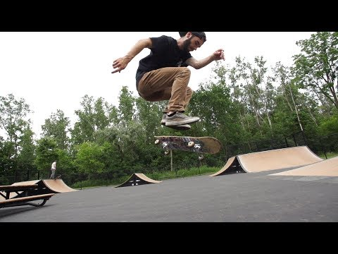 Fakie inward heelflip skateology