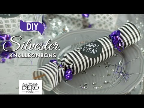 DIY: Silvester Knallbonbons (Christmas Cracker) selber machen [How to] Deko Kitchen