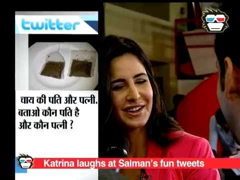 Katrina Kaif can't stop laughing over Salman Khan's funny tweets