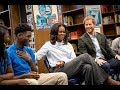 Prince Harry and Michelle Obama surprise students in Chicago