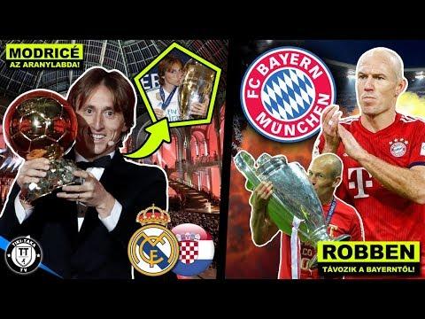 Modric Nyerte Az Aranylabdát! Robben Távozik A Bayern-től! | Foci Hírek