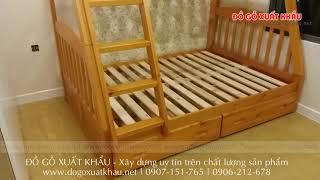 Giường ngủ 2 tầng đẹp HAPPY HOME - Đồ Gỗ Xuất Khẩu huyện Hóc Môn TP HCM