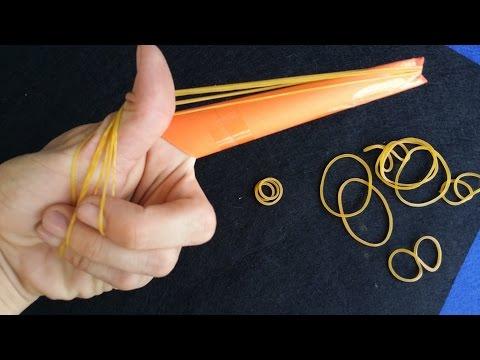 Cara membuat pistol karet gelang | gun jari