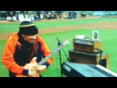 Carlos Santana World Series Game 4 SF Giants sound check Star-Spangled Banner 2014