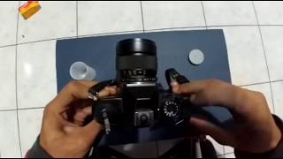 how to load 35mm film on old SLR Yashica FX3 Super 2000
