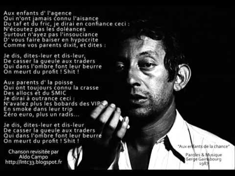 Serge Gainsbourg - Aux Enfants De La Chance