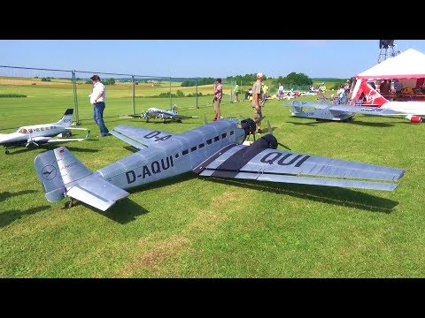 BIGGEST RC AIRPLANE JUNKERS JU-52 TERRIBLE END