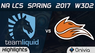 TL vs FOX Highlights Game 2 NA LCS Spring 2017 W3D2 Team Liquid vs Echo Fox