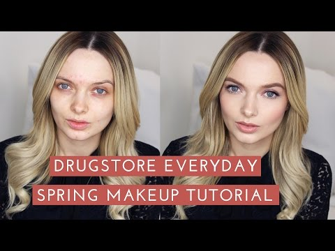 DRUGSTORE Everyday Spring Makeup Tutorial // MyPaleSkin