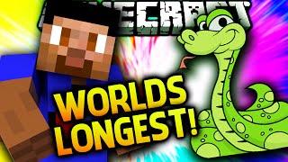 WORLDS LONGEST SNAKE!  - Minecraft SNAKE #4
