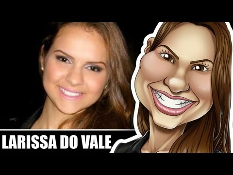 Caricature Speed Painting - Larissa do Vale (por @RenanRoque)