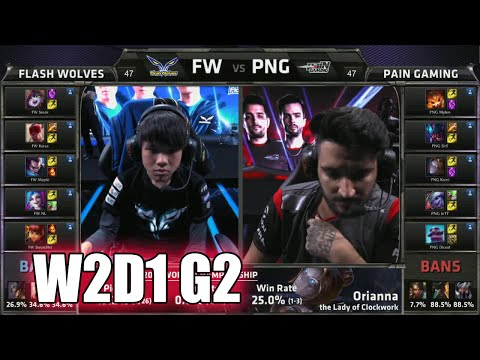 Flash Wolves vs paiN Gaming Game 2 | Week 2 Day 1 Group A S5 World Championship 2015 | FW vs PNG G2