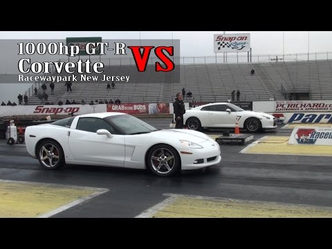 1000hp GT-R vs Corvette