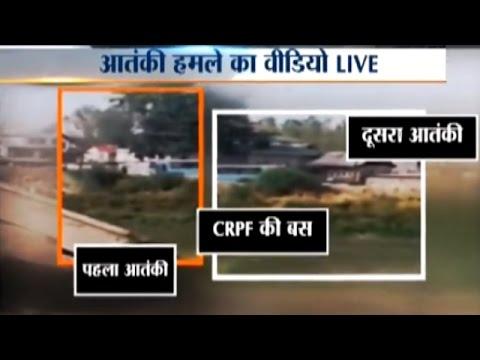 Live Footage Video of Terrorist Attack at CRPF Bus in Jammu & Kashmir