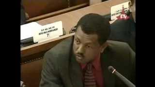 Ethiopian Oposition Leader Lidetu Ayalew grilling PM Meles - ETHIOPIAN Parliment [must watch]