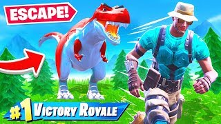 ESCAPE JURASSIC Park DINOSAURS *NEW* Game Mode in Fortnite Battle Royale