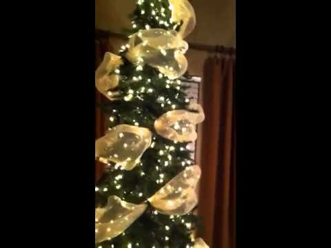PART ONE: How To Decorate A Christmas Tree ...Designer Style