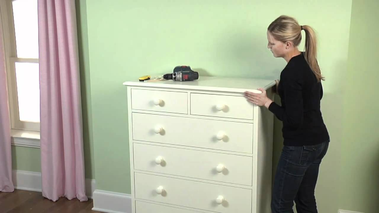How to secure your large furniture to the wall to ensure for Baby and kids first furniture