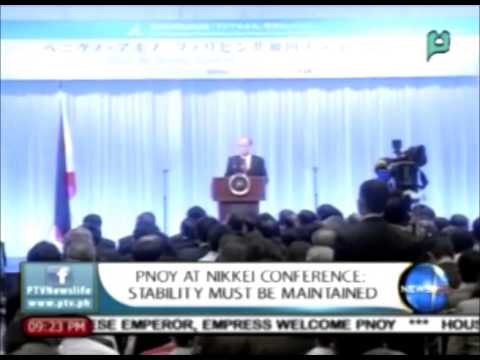 NewsLife: PNoy at NIKKEI Conference: Stability must be maintained