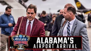 Check out the festive scene as Alabama arrives in New Orleans for the Sugar Bowl