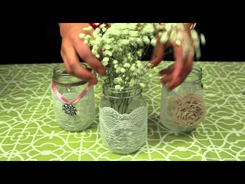 How to Decorate Mason Jars for a Wedding