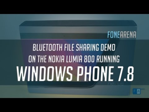 Bluetooth file transfer on Nokia Lumia Windows Phone 7.8