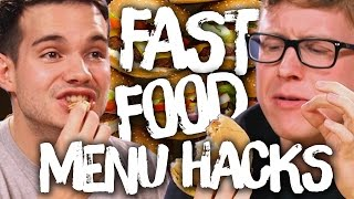 9 Secret Fast Food Menu Hacks w/ TYLER OAKLEY & KOREY KUHL (Cheat Day)