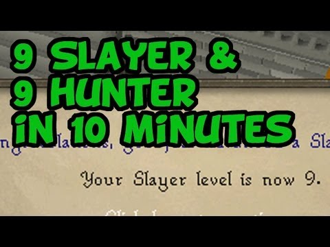 RuneScape 2007 – 9 Slayer and Hunter in 10 Minutes! [Quick Tips]