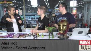 Ales Kot Soaks Up the Praise on Marvel LIVE! at New York Comic Con 2014