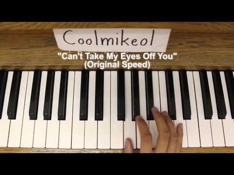 Basic Piano Melody: Hayate no Gotoku! Can't Take My Eyes Off You OP 1 - Can't Take My Eyes Off You