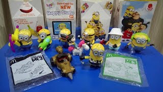 2017 Minion Despicable ME 3 Toys with Happy Meals from McDonalds Malaysia Reviewed. From June 29