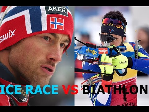 Martin Fourcade VS Petter Northug. The Race of the champions MEN 10.04.16 Russia Tyumen