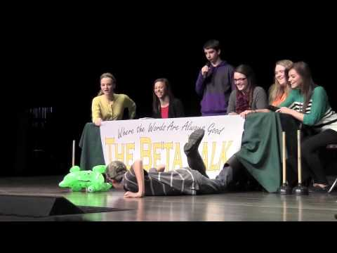 "Bloomfield High School Beta Club Character Skit ""The Beta Talk"""