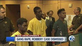 Gang rape and robbery case dismissed
