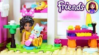 Little Andrea's Toddler Bedroom with Dollhouse - Lego Friends Girls Bedroom Custom Build DIY