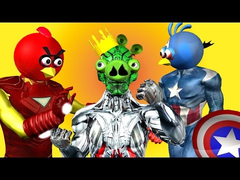 ANGRY BIRDS as AVENGERS vs. ULTRON ♫ 3D animated  future fight  mashup  ☺ FunVideoTV - Style ;-))