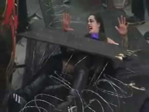 TNA - Daffney Chokeslammed through Barbed Wire Board