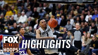 Tyler Bey leads No. 23 Colorado past Washington, 76-62 | FOX COLLEGE HOOPS HIGHLIGHTS