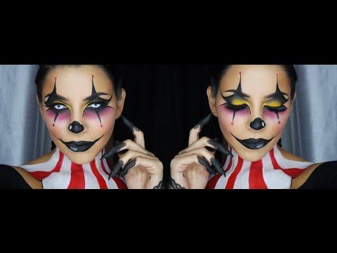 Clown Face Makeup Tutorial by Tina Kosnik